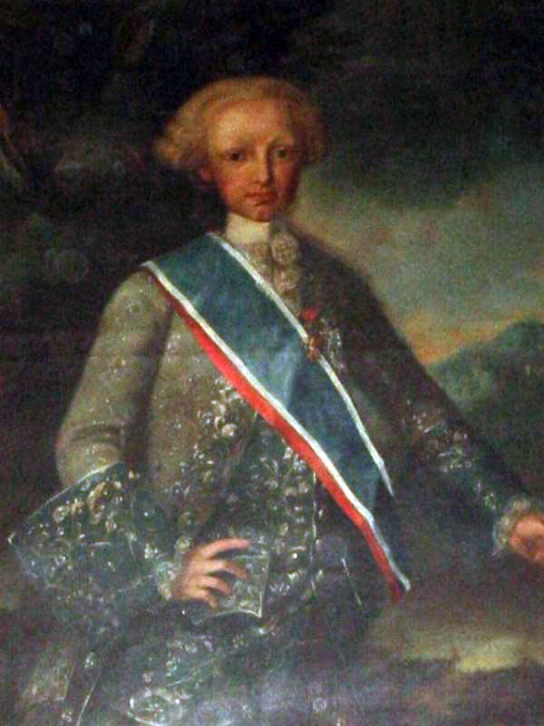 Hermano Mayor Año 1767 S.A.R. El Sermo. Sr. Infante Don Antonio de Borbón.
