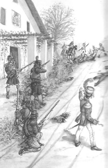"""Batallón de voluntarios de Valencia en la """"Venta del Poyo"""""""