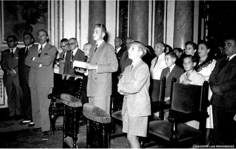 Visita valencia 1953