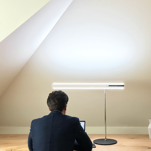 Helios Daylight Lamp in the Home Office