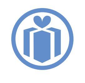 a blue giftbox