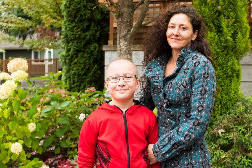 Vail and his mother, Charlotte, outside the Seattle House.