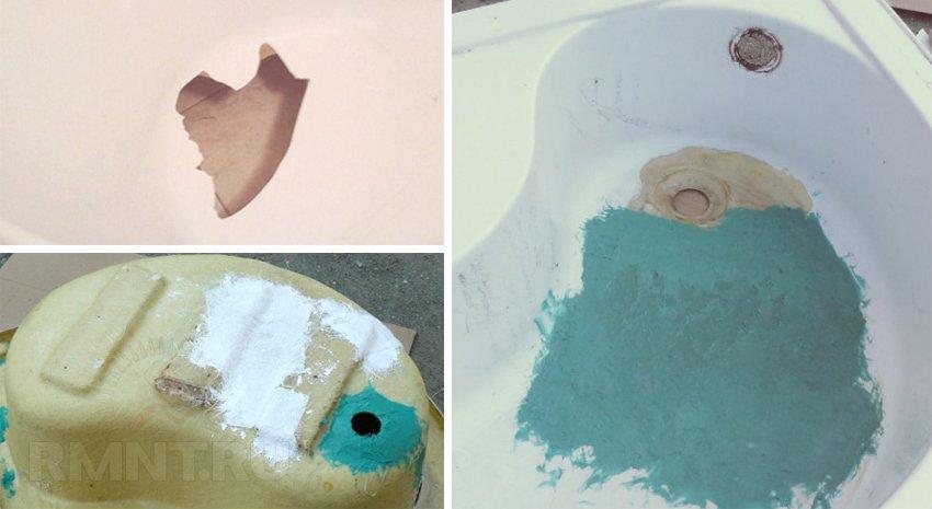 Reparații de baie acrilică faceți-o singură