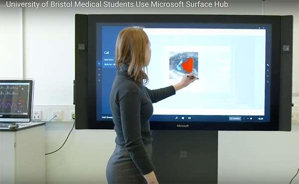 University of Bristol medical students use Microsoft Surface Hub