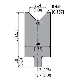 ASD-85-100 American Style 85 Degree Press Brake Die
