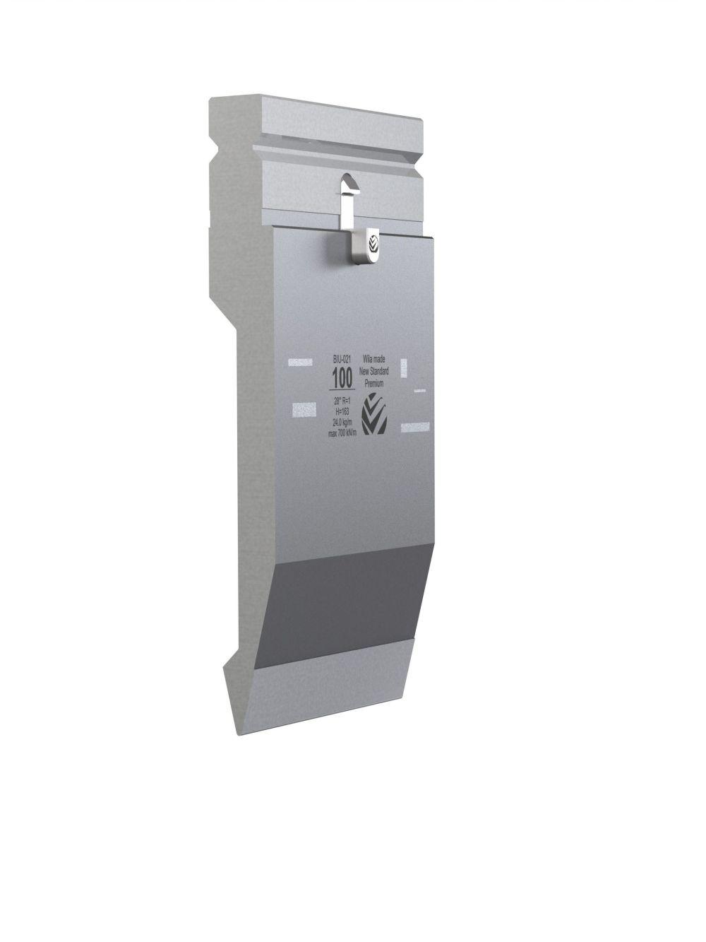WILA BIU-021/1 New Standard Premium Top Tool H=163mm, a=28°, R=1mm, max.load: 70ton/m 515mm - OPEN BOX, NEW