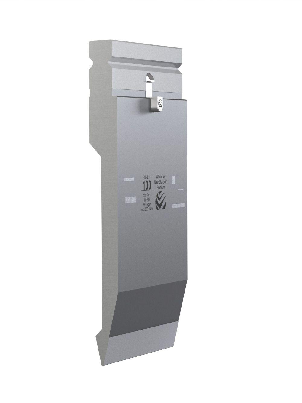 WILA BIU-031/1 New Standard Premium Top Tool H=200mm, a=28°, R=1mm, max.load: 60ton/m 515mm OPEN BOX, NEW