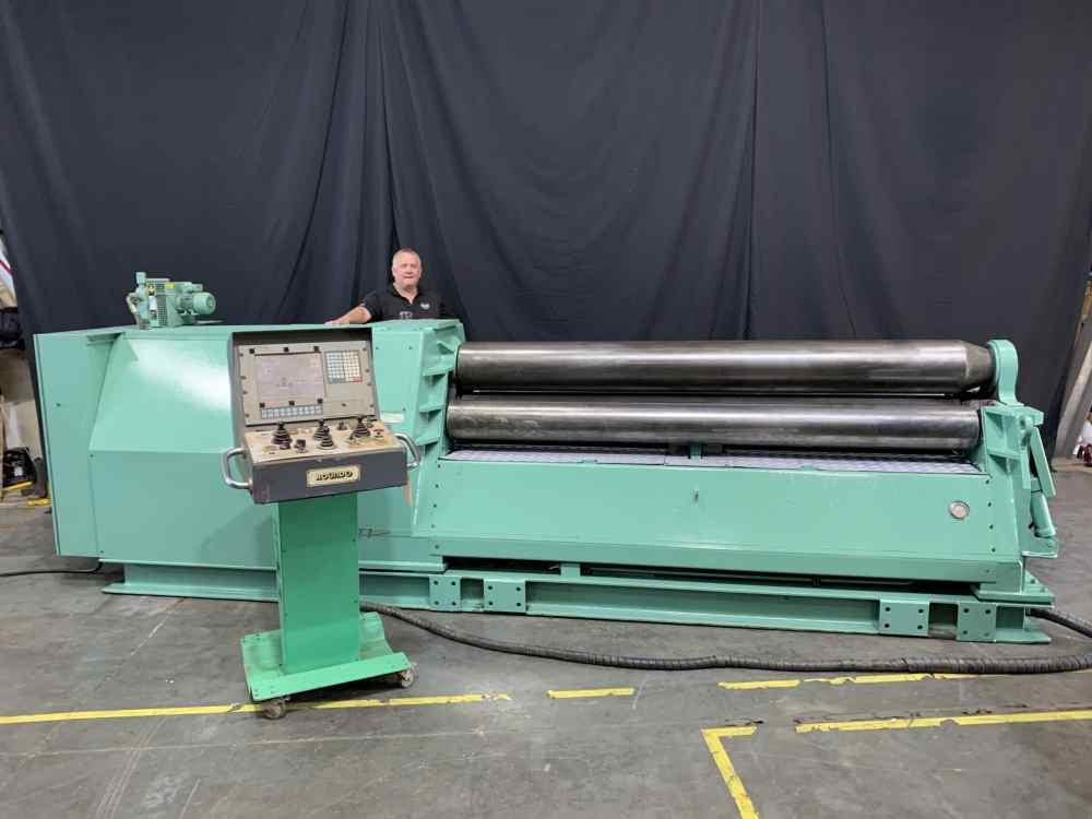 "Roundo Plate Roll - Hydraulic 4 Roll 8' x 1/2"" PASS 255-New 1999"