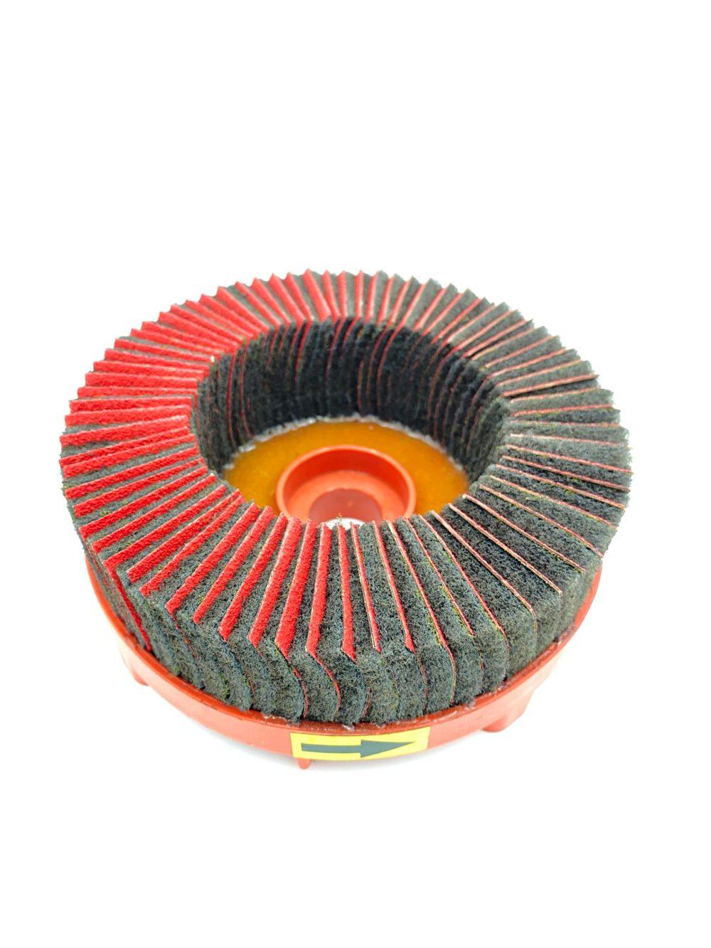 Disk Brush 80 Grit for RMT-SG1030-JS+D Finishing & Deburring Machine, Light Applications, Clockwise - RMTCS0096
