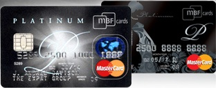 MBF Cards Expat Platinum and Lady Platinum MasterCard