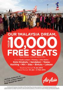 AirAsia 1M Free Seats
