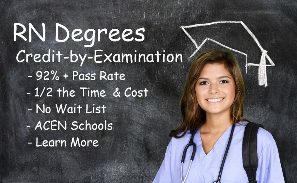 How Credit by Examination Works for RN and BSN Degrees