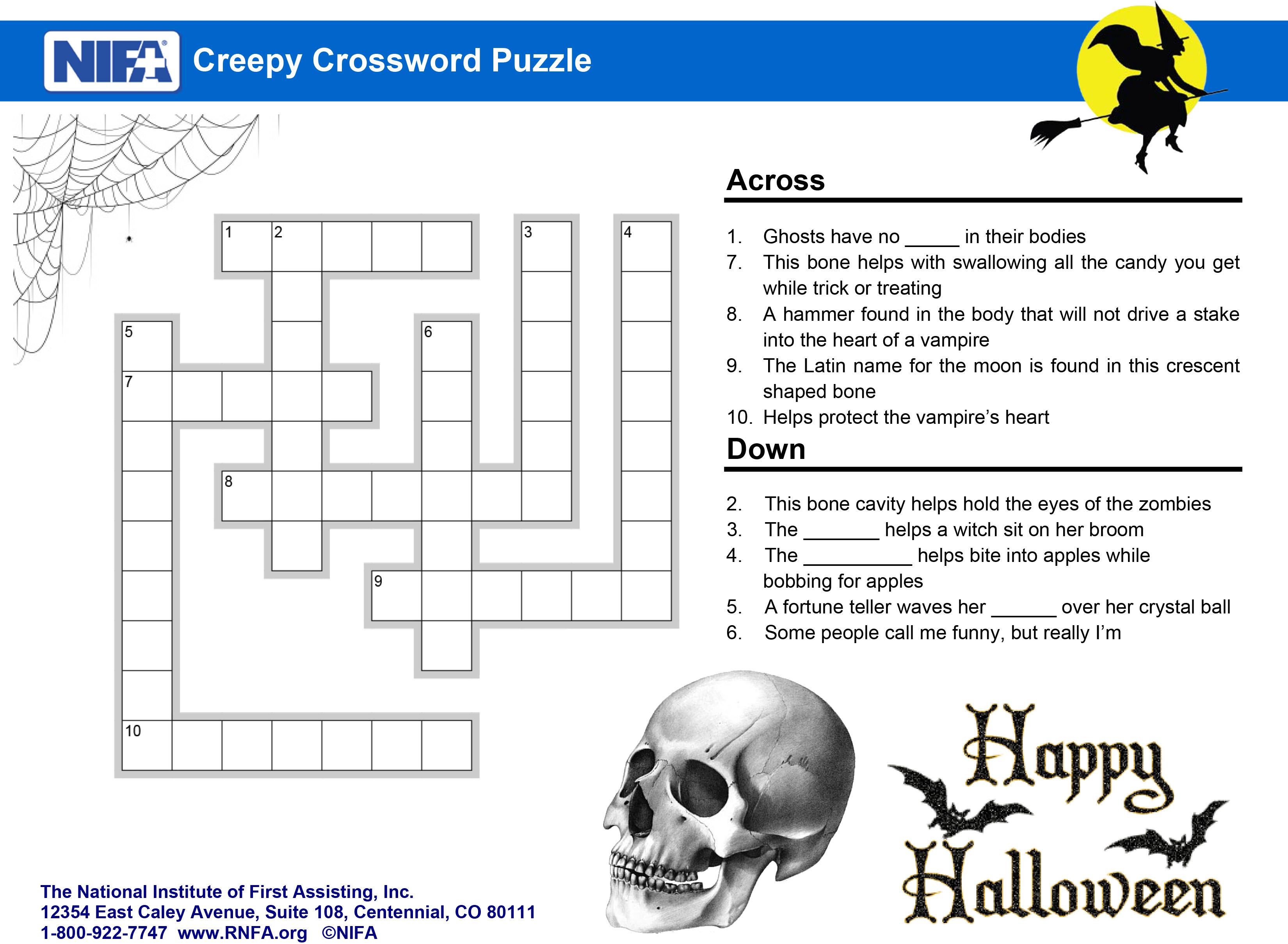Nursing Crossword Puzzle Worksheet