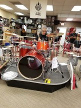 John Citrone jamming on a great sounding Ludwig set after it was tuned during the demo