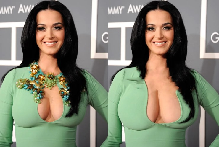 Turning Katy Perry's breasts from huge to humongous