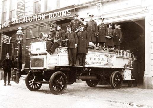 New York City fire station, ca. 1912