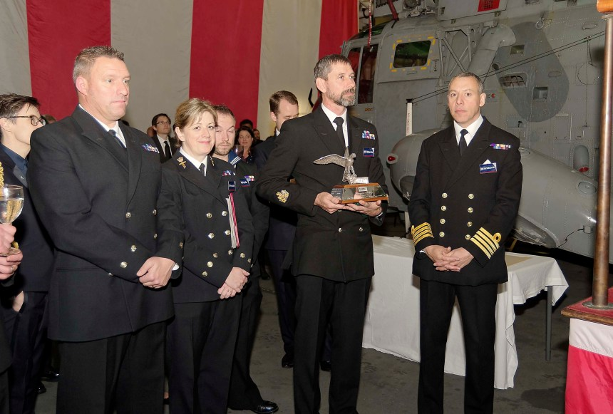 Guests With The Captain of HMS Ocean