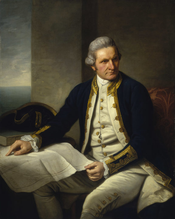 Captain James Cook painted at the age of 50 by Nathaniel Dance-Holland (1776)