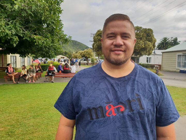 Che Wilson, at the annual Tira Hoe Waka Whanganui River pilgrimage, January 2019.