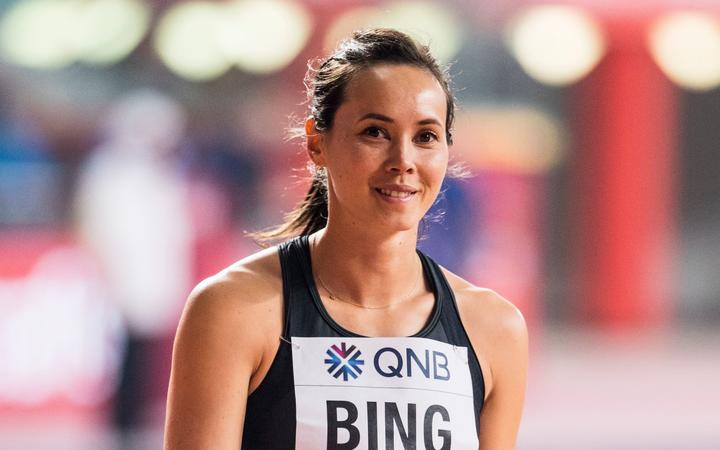 Portia Bing at the World Athletics Championships Doha 2019.