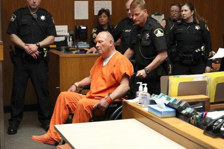 Joseph James DeAngelo appearing in court in Sacramento, California, in 2018.