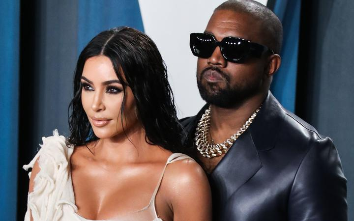 Kim Kardashian West and Kanye West arrive at the 2020 Vanity Fair Oscar Party in February 2020 in Beverly Hills, Los Angeles, California.
