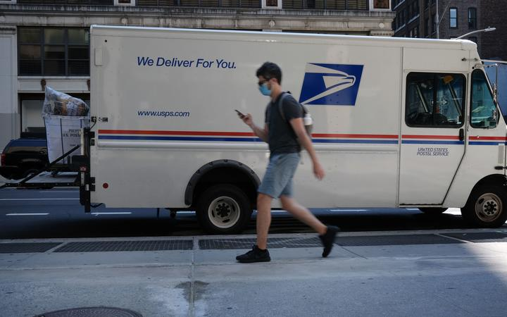NEW YORK, NEW YORK - AUGUST 05: A United States Postal Service (USPS) truck is parked on August 05, 2020 in New York City.
