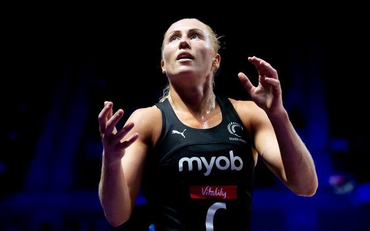 Netball World Cup Semi Final - England v New Zealand - M&S Bank Arena, Liverpool, England - New Zealand's Laura Langman. 2019.