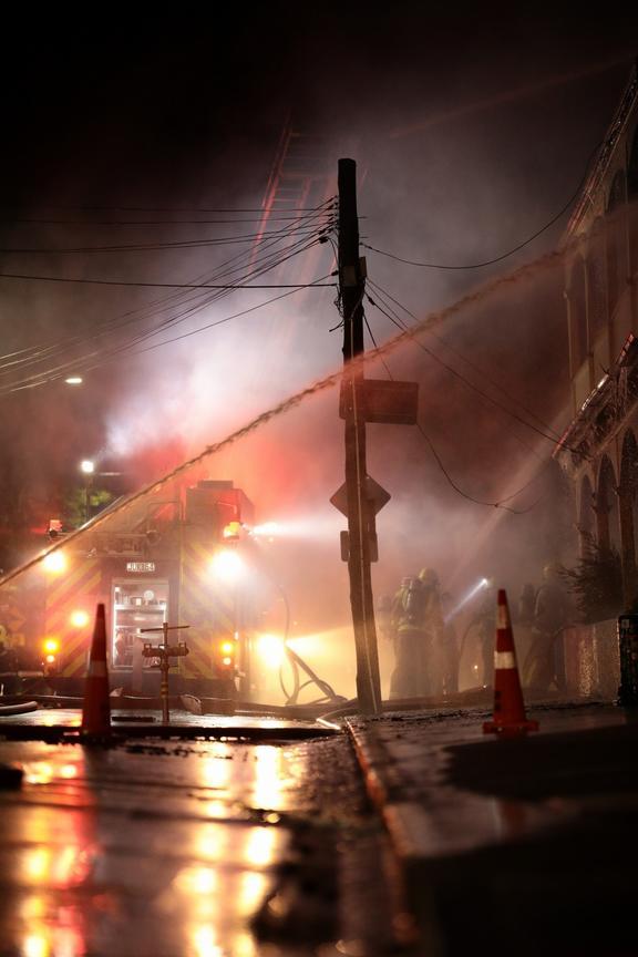 Abel Smith Street fire, Wellington.