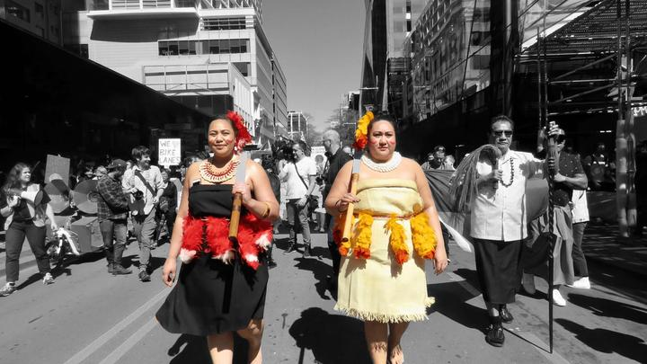 Pacific Climate Warriors - Mary Moeono-Kolio to the right