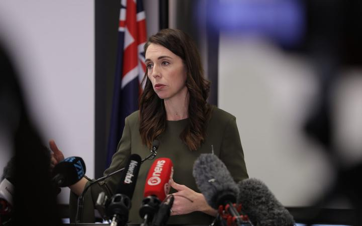 Jacinda Ardern gives an update on the Covid-19 Alert Levels for the country on 21 September in Auckland.