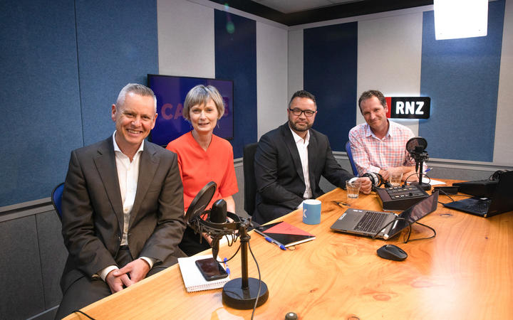 Guyon Espiner, Lisa Owen, Scott Campbell and Tim Watkin host the Caucus podcast for RNZ. October 2020