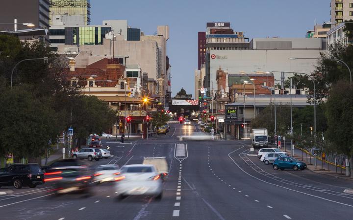 Traffic on North Terrace, Adelaide, Australia, 2014.