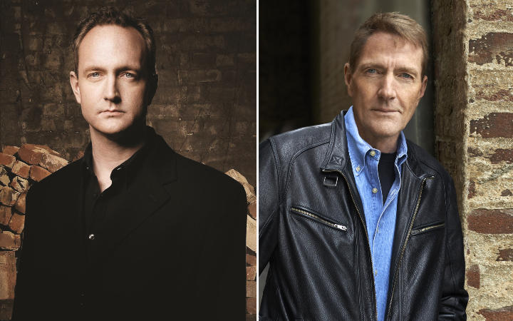 Andrew Child (left) will take over writing the Jack Reacher books from older brother Lee.