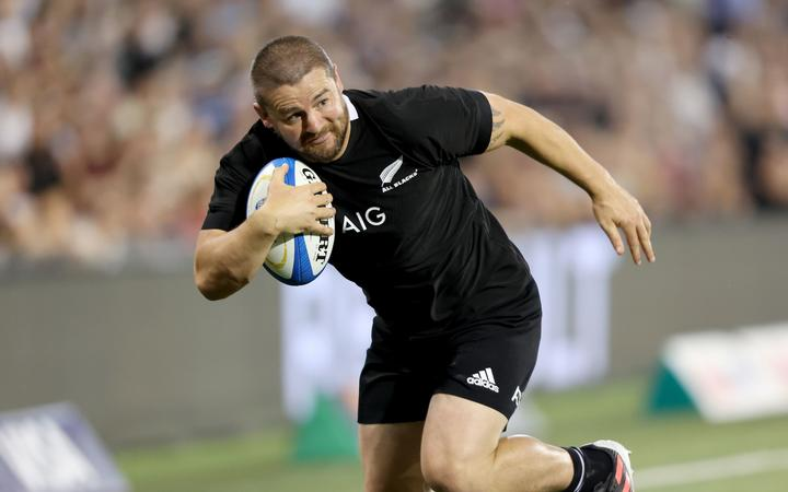 Dane Coles goes over to score a try. New Zealand All Blacks v Argentina. 2020 Rugby Championship Test Match played at McDonald Jones Stadium, Newcastle Australia on Saturday 28th November 2020. Photo Clay Cross / photosport.nz