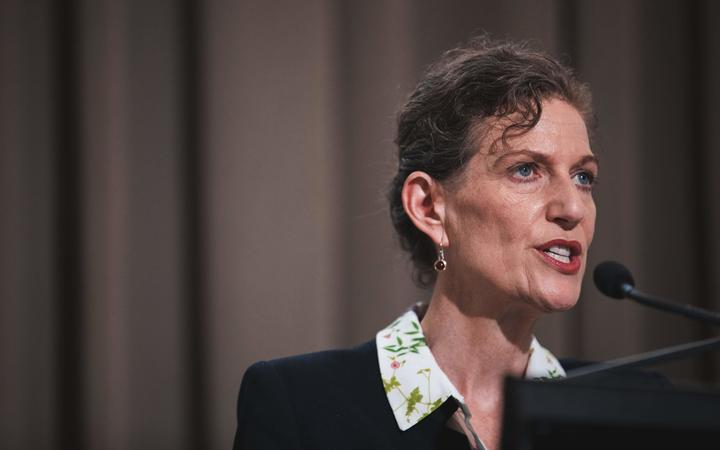 NZ Security Intelligence Service director Rebecca Kitteridge speaks after the release of the final report by the Royal Commission of Inquiry into the terrorist attack on Christchurch mosques on 15 March 2019.