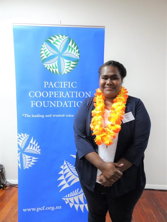 Hella Rore took out two awards; PCF Le Afi Pasifika Creativity and Top Pacific STEM Scholar
