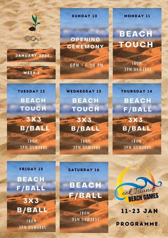 Week one of the Cook Island Beach Games