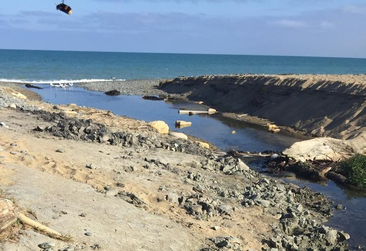 Up to a metre-and-a-half of digging along creek beds was discovered at Awamoa Creek after previous reports of casual fossicking.