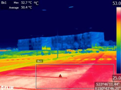 An urban heat image taken by Western Sydney University.