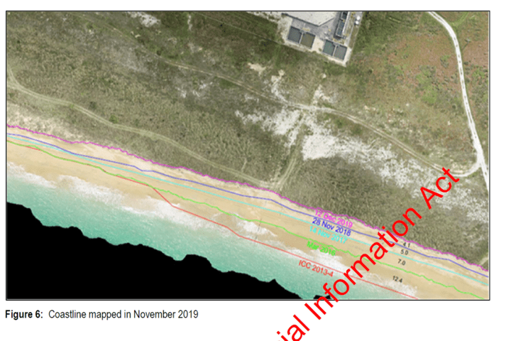called 'Annual DOC Compliance Report' by NZAS, released (to a contact) under OIA. At the top of the photo is the cathode treatment plant, and the edge of the SCL stockpile.