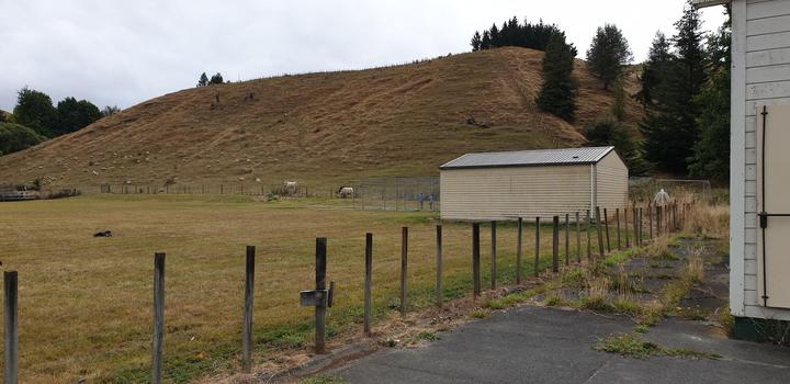 The teaching farm, once owned by the college and now leased by Taihape Area School.