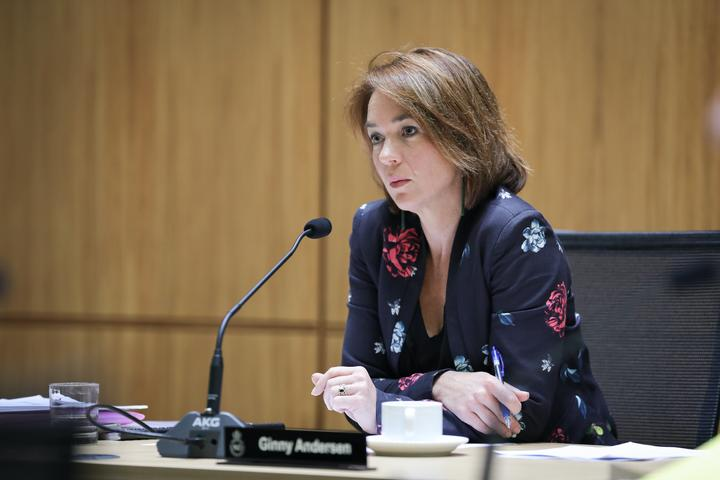 Labour MP Ginny Andersen chairing the Justice Committee