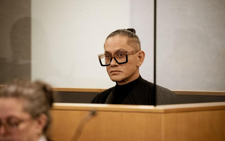 Mika X - formerly known as Mika Haka in the Auckland High Court for sentencing.
