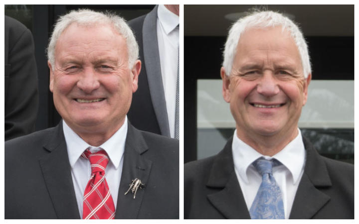 Stuart Challenger, right, wants Allan Birchfield removed from his role as chair of West Coast Regional Council.