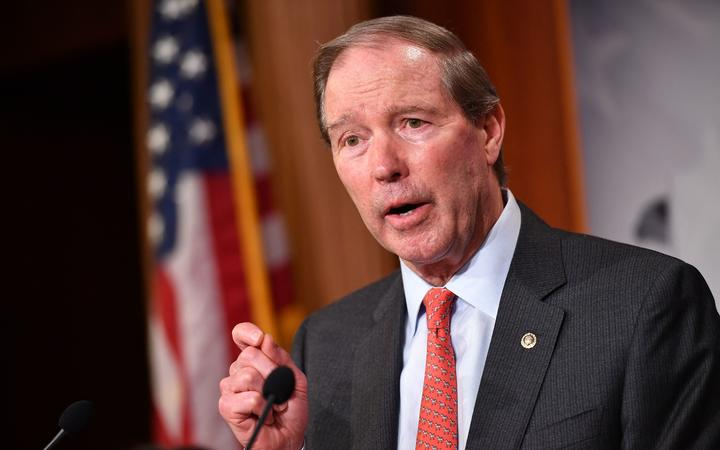 Senator Tom Udall, speaks following the Senate voted on the War Powers resolution, at the US Capitol in Washington, DC on 13 February 2020.