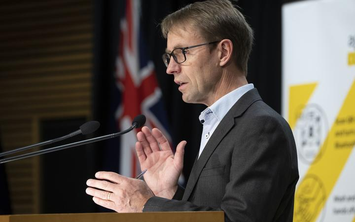 POOL - Director General of Health Dr Ashley Bloomfield during the Covid-19 and vaccines update at Parliament, Wellington, on Day 5 of the Covid-19 Alert level 4 lockdown.  22 August, 2021  NZ Herald photograph by Mark Mitchell