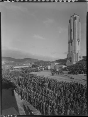Carillon War Memorial opening, Wellington, Anzac Day 1932.