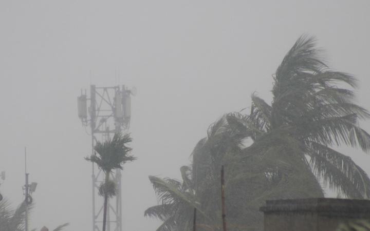 A general view of Kolkata, India, during the Cyclone Amphan on May 20, 2020.(Photo by Debajyoti Chakraborty/NurPhoto)