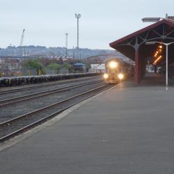 Last passenger train leaves town as Dunedin's Taieri Gorge Railway line is mothballed